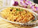 Рецепта Пържен ориз със свинско и грах